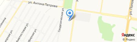 Mersedes Sprinter на карте Барнаула