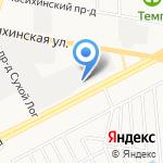Снежный Городок-Алтай на карте Барнаула