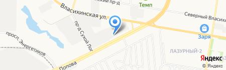 Техпромторг на карте Барнаула