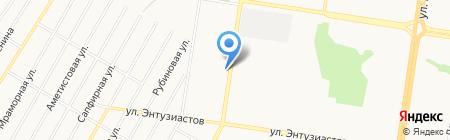 Автомотив на карте Барнаула