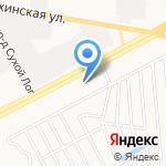 Осиновая на карте Барнаула