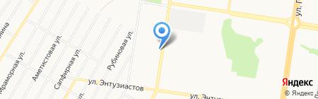 Автостоянка на Солнечной Поляне на карте Барнаула