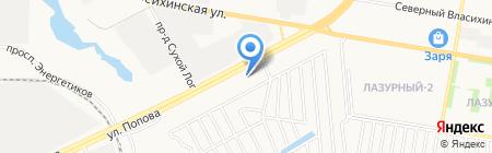 Адриатика на карте Барнаула