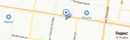 Квартал 2008 на карте Барнаула