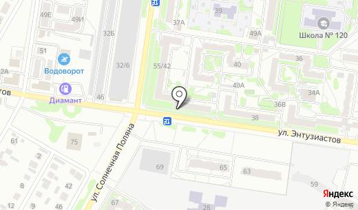 Глория. Схема проезда в Барнауле