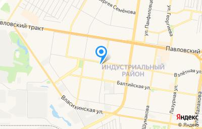 Местоположение на карте пункта техосмотра по адресу г Барнаул, ул Взлетная, д 75