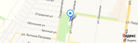 NFS на карте Барнаула
