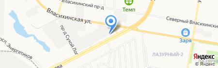 Автостоянка для грузовых автомобилей на ул. Попова на карте Барнаула