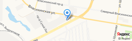 Дорогинский кирпич на карте Барнаула