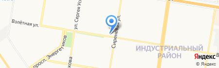 Лордин на карте Барнаула