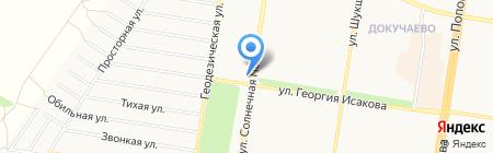 Шиномонтажная мастерская на Солнечной Поляне на карте Барнаула