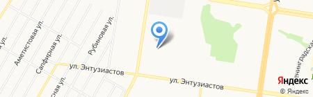 Детский сад №231 на карте Барнаула