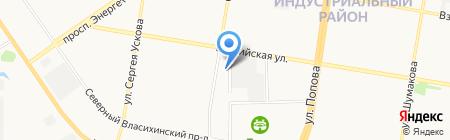 Краснаб на карте Барнаула
