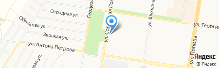 ЯНТРА на карте Барнаула