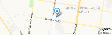 Двери Сибири на карте Барнаула