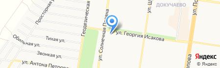 Севда на карте Барнаула