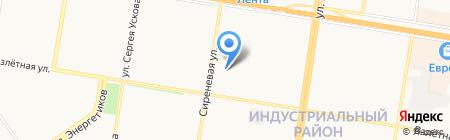 Дом художественного творчества детей Индустриального района на карте Барнаула