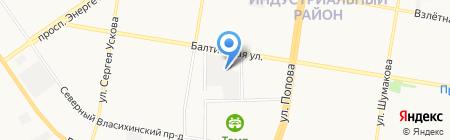 Агротрак на карте Барнаула