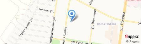 Непоседа-Егоза на карте Барнаула