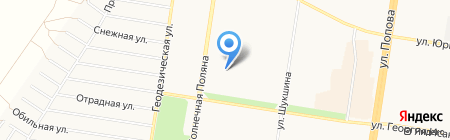 Детский сад №180 на карте Барнаула