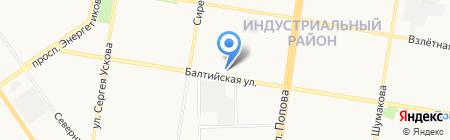 Техно-сфера на карте Барнаула