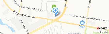 Эластика на карте Барнаула