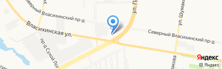 Polaris на карте Барнаула