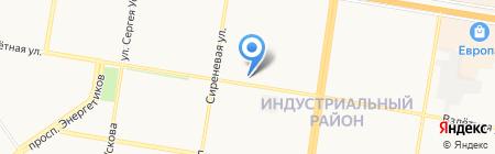 Взлетный на карте Барнаула