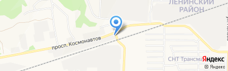 Корд на карте Барнаула