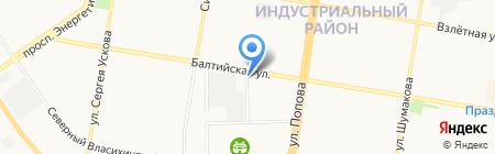 Шиномонтажная мастерская на Балтийской на карте Барнаула