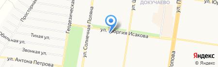 Пенный Уголок на карте Барнаула