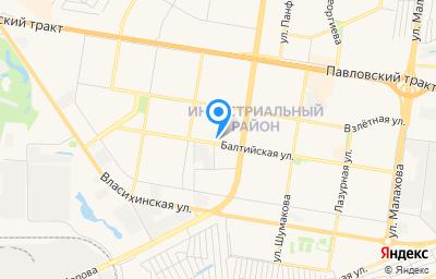 Местоположение на карте пункта техосмотра по адресу г Барнаул, ул Балтийская, влд 78