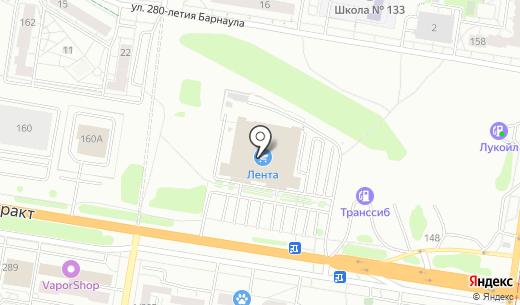 Мир праздника. Схема проезда в Барнауле