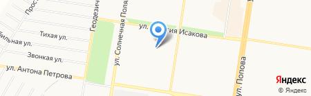 Средняя общеобразовательная школа №107 на карте Барнаула