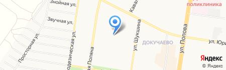 Средняя общеобразовательная школа №89 с углубленным изучением отдельных предметов на карте Барнаула