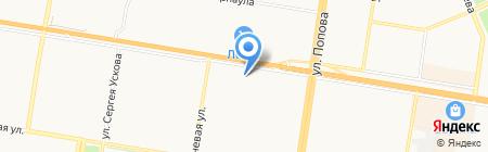 Магнит косметик на карте Барнаула