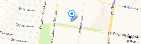 Школьник на карте Барнаула