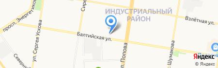 РПЛ на карте Барнаула