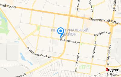 Местоположение на карте пункта техосмотра по адресу г Барнаул, ул Балтийская, д 66А