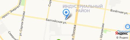 Алттраст на карте Барнаула