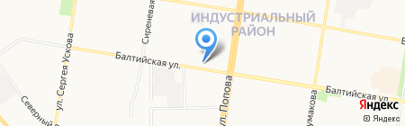 Леан на карте Барнаула