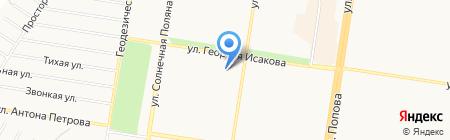 Семь соток на карте Барнаула