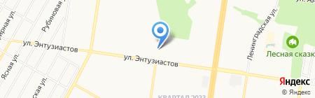 Контур-М на карте Барнаула