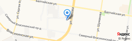 Зеленый проспект на карте Барнаула