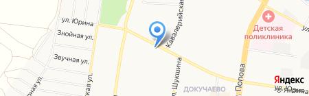 Хвостушки на карте Барнаула