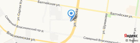 Маяк на карте Барнаула
