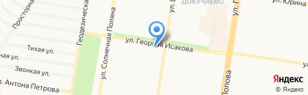 Здравушка на карте Барнаула