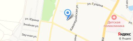Детский сад №228 на карте Барнаула