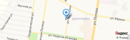 Мэди на карте Барнаула