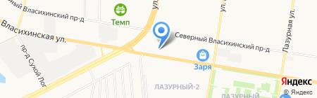 ТехОсмотр на Исакова на карте Барнаула